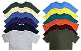 SOCKS'NBULK Mens Cotton Crew Neck Short Sleeve T-Shirts Mix Colors Bulk Pack
