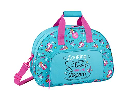Glowlab dreams 711933219 - Bolsa deporte bolso de viaje, Azul, 48 cm