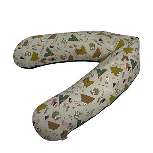 Joyfill 2008-2-5064 Stillkissen, Flexofill Midi Schwangerschaftskissen und Lagerungskissen für Mütter und Babys, inklusiv Bezug, 5064 Little Adventures