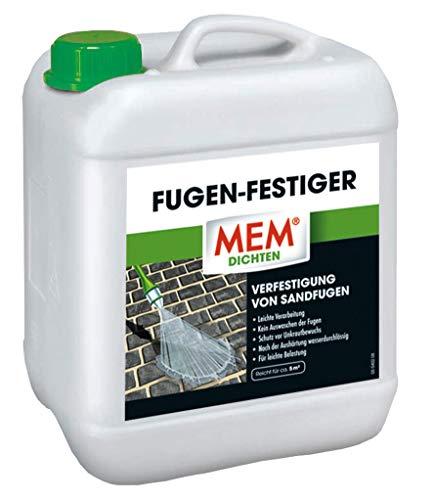 MEM Fugen Festiger - Verfestigung von Sandfugen - Betonsteinpflaster, Platten und Klinkerbelägen - Sanierung von Fugenrissen - 30836031 - 5 l
