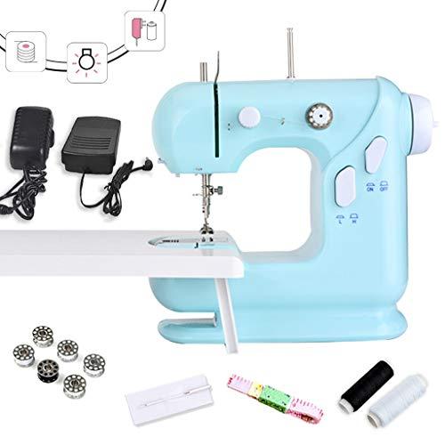 Draagbare mini-keukenmachine met blauwe naaimachine, twee snelheden met spoelen en snoer om te naaien, nachtlampje voor nachtlampje -1.11