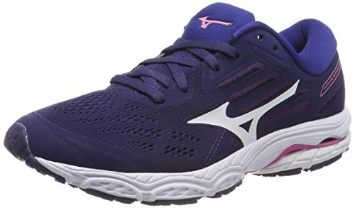 Mizuno Wave Stream 2, Zapatillas de Running Mujer, Púrpura Astral Aura White Blueprint 2, 42 EU