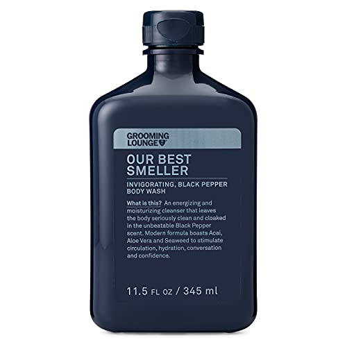Grooming Lounge Best Smeller Men's Hydrating, Moisturizing Body Wash. Fortifying Male All-Over Wash for All Skin Types. Paraben-Free, 11.5 oz.