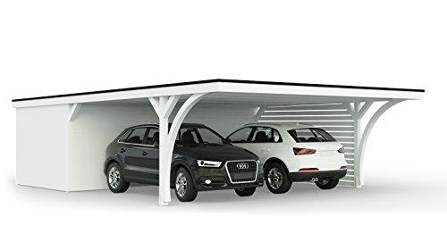 Carport mit Geräteraum 616 x 900 cm Easycarport
