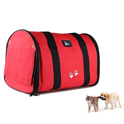 Transporttas voor huisdieren, honden, carrier, elegante kattentas, handtas, rolgordijn, design licht en draagbaar, voor buiten, reizen, dagelijks gebruik, 4 kleuren, 3 maten