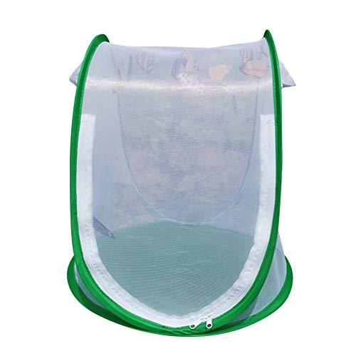 fuguzhu Insekt und Schmetterling Lebensraum Käfig, Faltbarer Tragbare Schädlingsbekämpfungsgitter, Strapazierfähiger und Belüfteter Schutz Käfig
