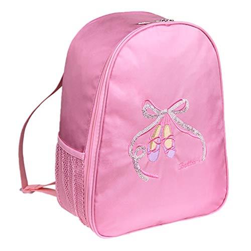 ABOOFAN Mochila de baile para niñas y niños, ideal para el gimnasio o el ballet, Pink,