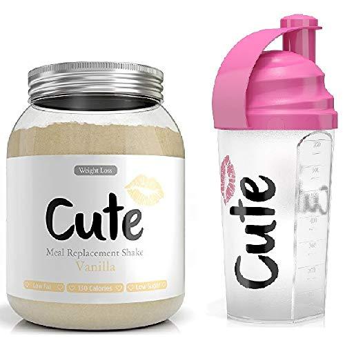 Batidos de repuesto para comida de nutrición para control de pérdida de peso y energía con coctelera