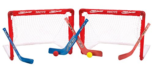 Kinder Hockey Set Street Hockey und Feldhockey 2 Tore 4 Schläger