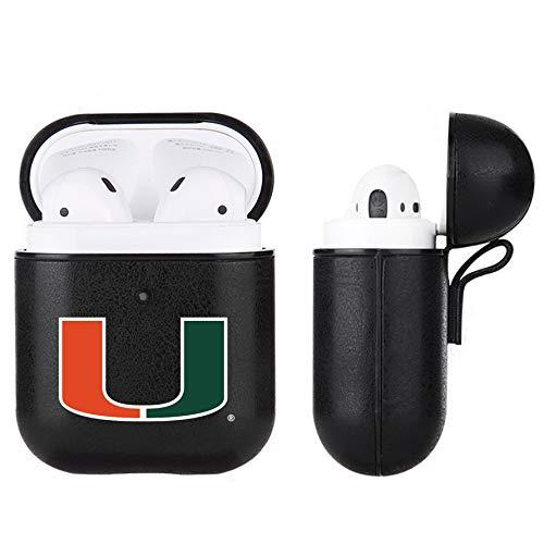 Fan Brander NCAA Letherette case for Apple AirPod (Miami Hurricanes Apple Air Pod)