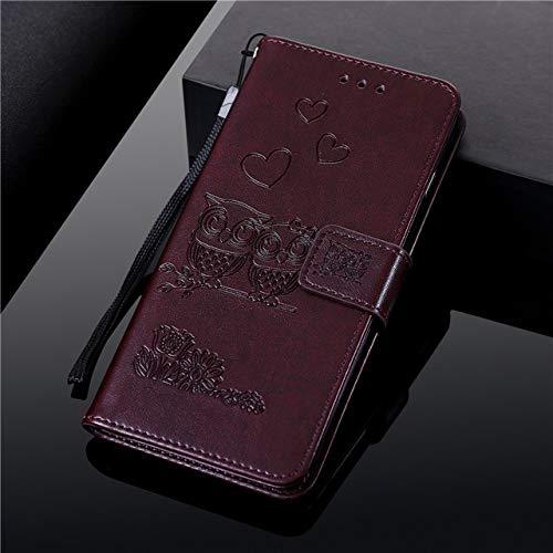 RZL Teléfono móvil Fundas para iPhone 12 Mini 11 Pro MAX, la Carpeta del tirón del búho de Cuero de Lujo para el iPhone XS MAX XR X 6 7 8 6s Plus (Color : Verde, Material : For iPhone SE 2020)