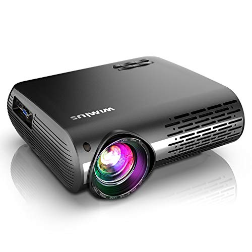 WiFi Projector, WiMiUS Newest P20 7500L Native 1080P Projector Support 4K, Bluetooth Transmitter ±50° Correction, Zoom, 10W Speaker Compatible with PC PS4 USB Fire TV Stick Smartphones Indoor Outdoor