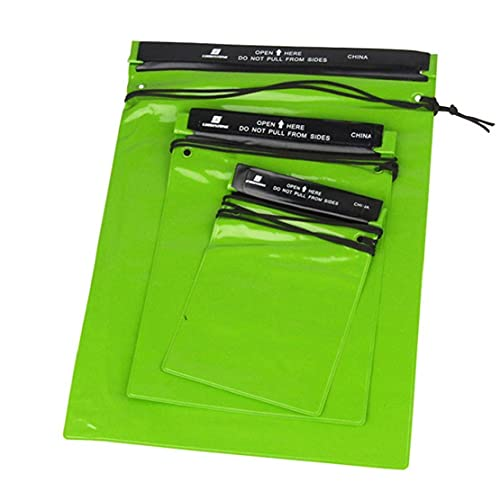 EElabper Bolsas Impermeable de la Bolsa del teléfono de la cámara del documento Llavero de PVC para la Pesca al Aire Libre Navegación Green Travel 3PCS