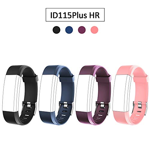 Lintelek Replacement Bands for Fitness Tracker ID115Plus HR, ID115Pro, Interchangeable Adjustable Wristbands Sets for Men Women