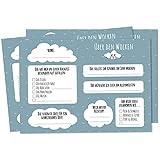 Nalara   Über den Wolken - 50 Ballonflugkarten zur Hochzeit für das Brautpaar mit süßen Wünschen für eine tolle Ehe als Hochzeitsspiele für Gäste