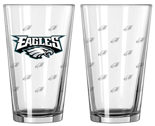 NFL Pint Glass Cup (Set of 2) NFL Team: Philadelphia Eagles