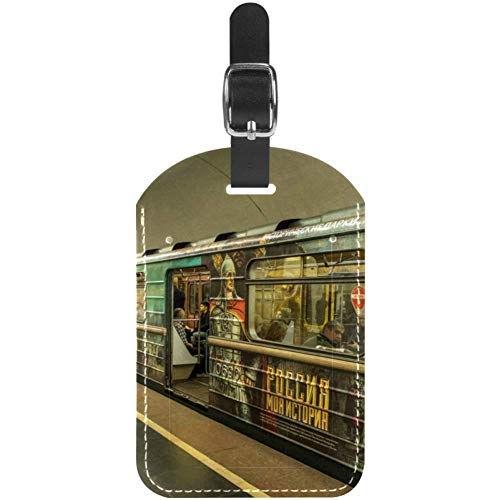 Kofferanhänger Moscow Metro Subway Leder Reisekofferetiketten 1er Pack