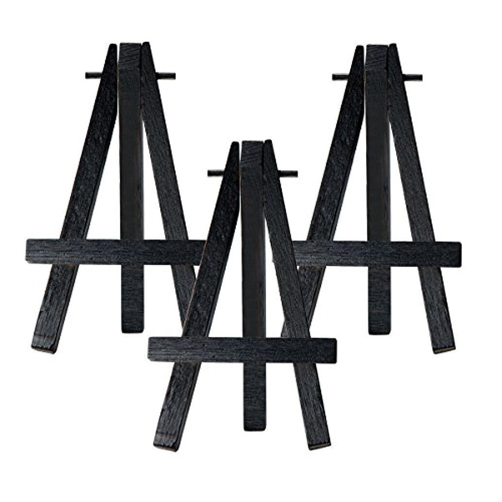 Creative Mark Ultra Mini Wood Display Art Easel - Small Black Easel [3-Pack]