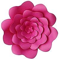 QLING Flor Papel 30cm Habitación los niños Decoración la Pared Gigante Vivero Cumpleaños Telón Fondo casero Boda Artesanal DIY Suministros Fiesta Rosa(Rosa roja)