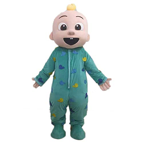 Adult Size Cocomelon Baby Costume Cosplay Fancy Dress Full Body Plush Mascot Suit