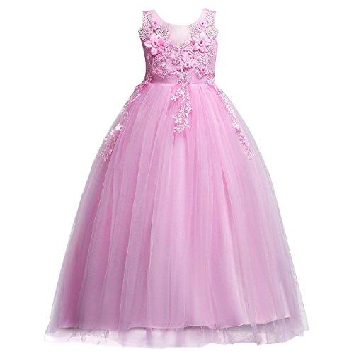 Little Big Girl Bridesmaid Pageant Flower Princess Wedding Formal Prom...