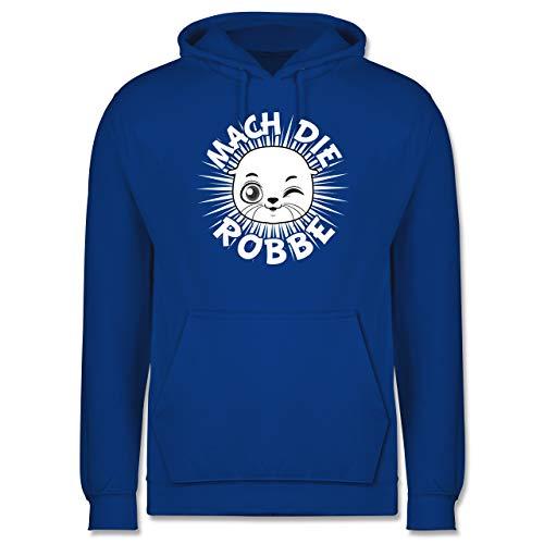 Shirtracer Sprüche - Mach die Robbe - M - Royalblau - Julian bam - JH001 - Herren Hoodie und Kapuzenpullover für Männer