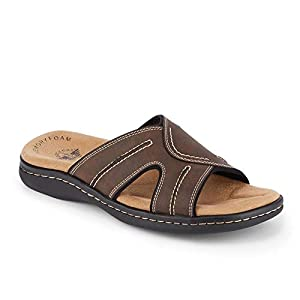 Dockers Mens Sunland Casual Slide Sandal Shoe, Dark Brown, 10 M