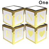 Glomixs 4Pcs/Set Baby Shower Party Decor Balloon Box, Baby Shower Boxes Party Decorations, Transparent Cardboard Box Xmas Gift Birthday Party Gender Reveal Backdrop