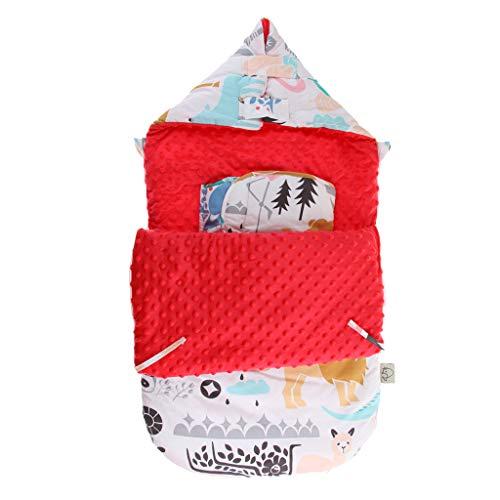 SM SunniMix Saco de Dormir de Algodón Suave Bolsa de Descansa para Bebé - A