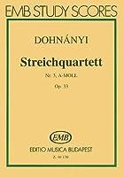 String Quartet No. 3 in a Minor, Op. 33 (Study Score)