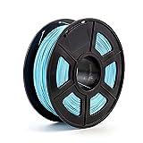 Extrusora filamento de impresora 3D ABS 1,75 mm, 1 kg, material de plástico para impresoras 3D y bolígrafo 3D ABS filamento piezas de impresora 3D (color azul claro)