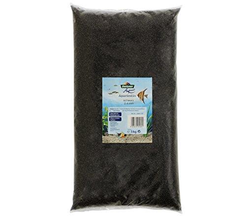 Dehner Aqua Aquarienkies, Körnung 2 - 4 mm, 5 kg, schwarz