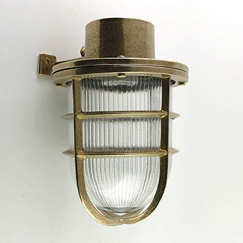 KsH y Co IP64 Luminarias de latón fundido a presión Lámparas de pared de estilo náutico del período