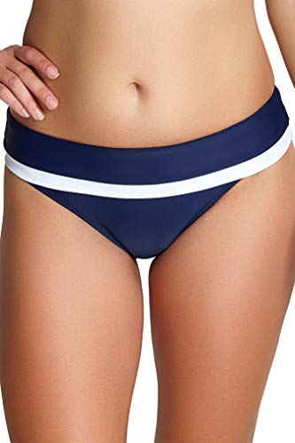 Panache Swim Damen Anya Cruise Classic Swim Bikini Bikinihose, Marineblau/weiß, Medium