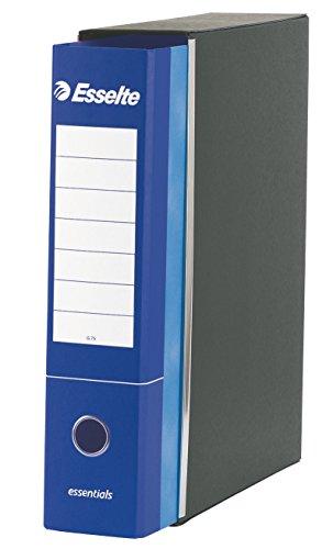 ESSELTE G75 ESSENTIALS Registratore - f.to protocollo dorso 8 cm - Blu - Confezione da 6 Pezzi - 390775050