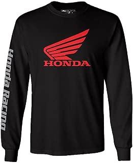 Factory Effex 17-87314  'HONDA' Long Sleeve T-Shirt (Black, Large)