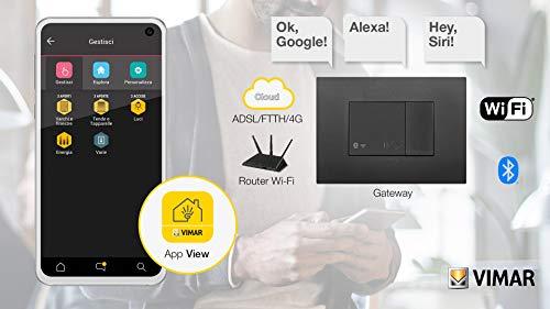 Vimar 19597 Arké Gateway IoT Bluetooth Wi-Fi für Integration, Konfiguration, Überwachung von Wireless VIEW über Cloud und App, 2 Module