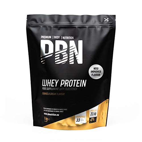 PBN - Premium Body Nutrition Whey Protein 1kg Cookies, New Improved Flavour