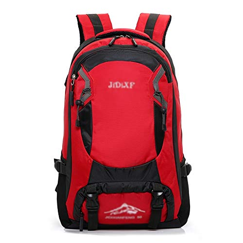SHIYUPING Hiking Bag Backpack Men's Outdoor Travel Mountaineering Bag Female Large Capacity Waterproof Leisure Travel Luggage Backpack (Color : Red)