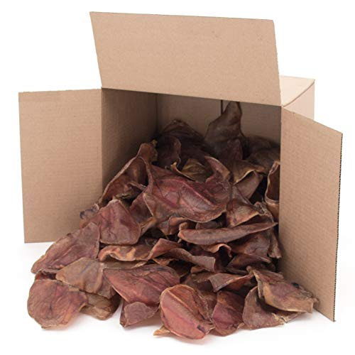 Gigabite Whole Pig Ears for Dogs (100 Pack) – All Natural Pork Ear Dog Treat by Best Pet Supplies, Inc.