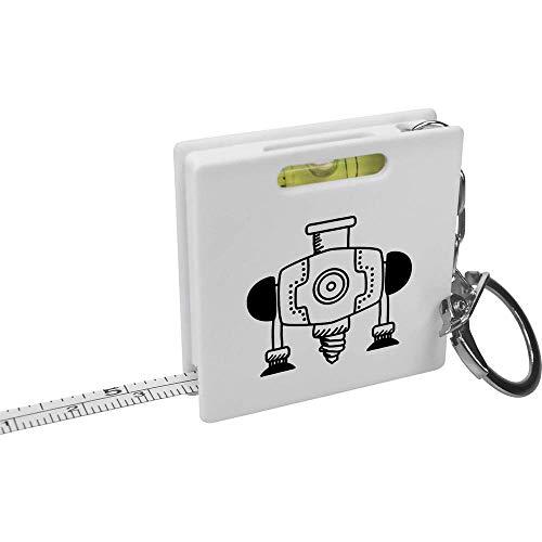 Azeeda 'Industriebohrer' Schlüsselring-Maßband / Wasserwaage (KM00010742)