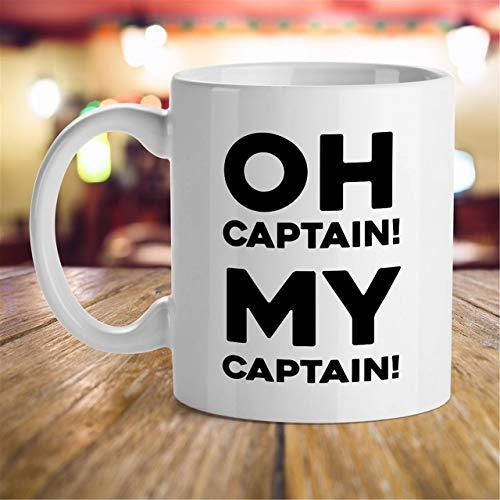 N\A Idea de Regalo para poetas ¡Oh Capitán! ¡Mi capitán! Regalo para los Amantes de la música clásica Regalo de los Padres Regalo Inspirador Taza de evaluación del Mejor Gerente