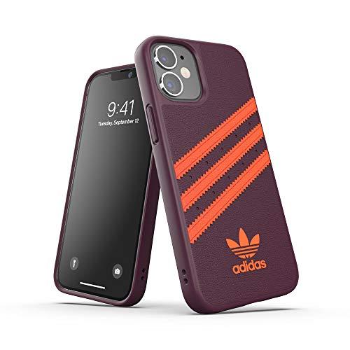 adidas Funda diseñada para iPhone 12 Mini 5.4, Fundas a Prueba de caídas, Bordes elevados, Carcasa Original Moldeada, Color castaño y Naranja