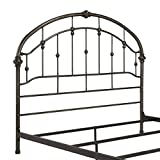 Ashley Furniture Signature Design - Nashburg Metal Headboard - Queen Size - Component Piece - Vintage Casual - Headboard Only - Bronze Finish