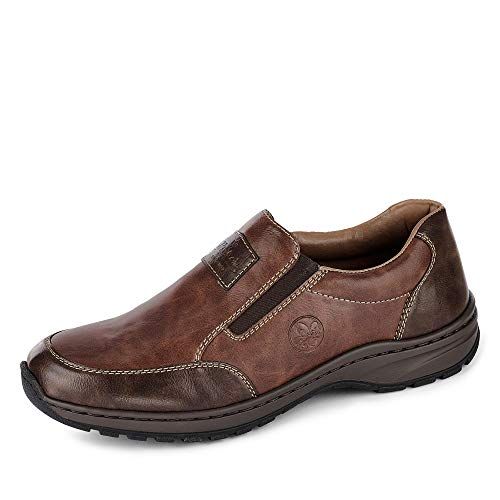 Rieker Herren 3354 Flacher Slipper, Braun (Toffee/Wood 26), 43 EU