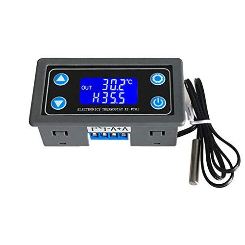 Controlador Digital Temperatura 12V 24V Pantalla LCD Termostato Digital Módulo Control Temperatura Alta Precisión Refrigeración Calefacción Tablero Interruptores Automático