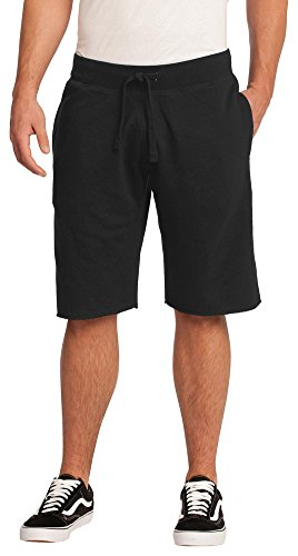 District Young Mens Core Fleece Short, Black, Small
