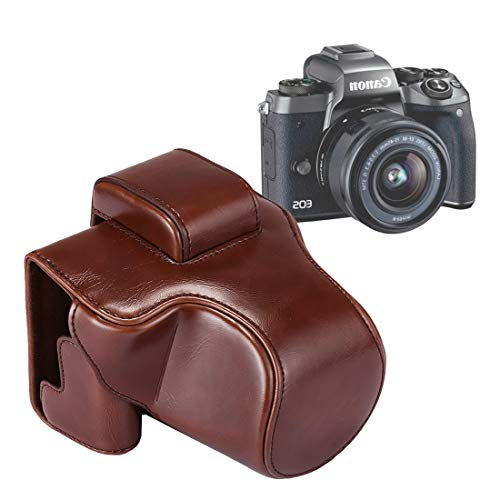 Color : Coffee Full Body Camera PU Leather Case Bag with Strap for Panasonic LUMIX LX100 Durable