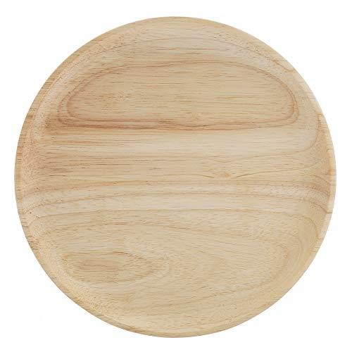 Dienblad Elegant Rond Rond Dinerbord Houten Milieubescherming Afbreekbaar Niet-giftig Dienblad voor Theeservies Fruit Snoepjes Voedsel Huisdecoratie(10,5 * 10,5 cm)