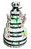 Tarta de pañales mágica con diseño de oso panda XXL, regalo para baby shower,...